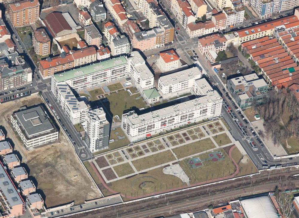 Progettazione e realizzazione degli spazi a verde interni ad un complesso edilizio residenziale Savona Verde